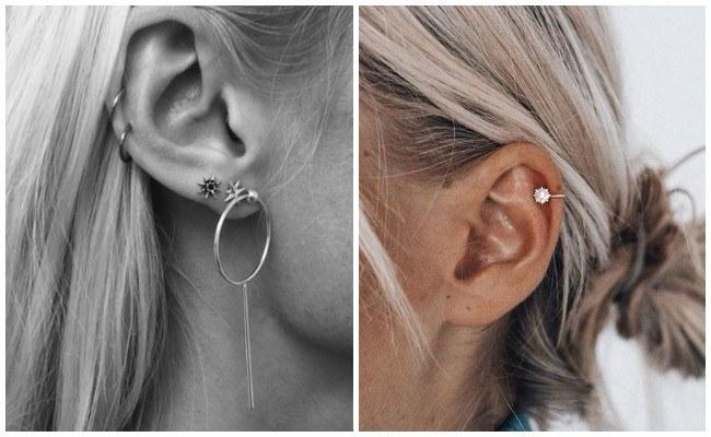 Cuidados de piercing en la oreja