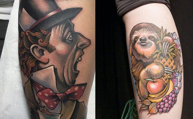 debora cherrys tatuaje neotradicional