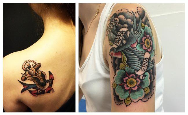 Diseños de golondrinas para tatuajes