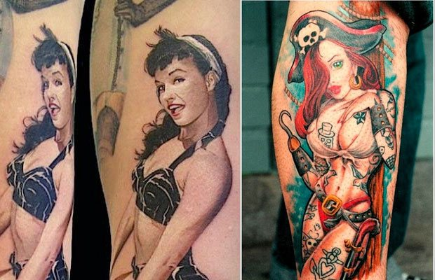 diseños de tatuajes Pin Up