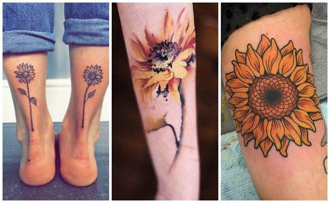 Diseños de girasoles para tatuajes