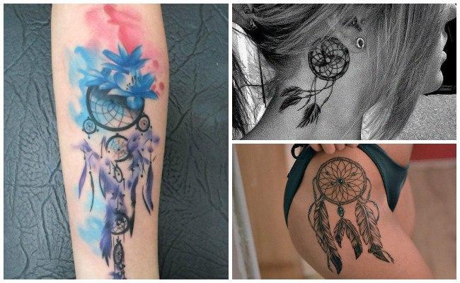 Diseños de tatuajes de atrapasueños indios