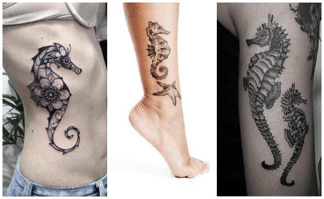 Diseños de tatuajes de caballitos de mar