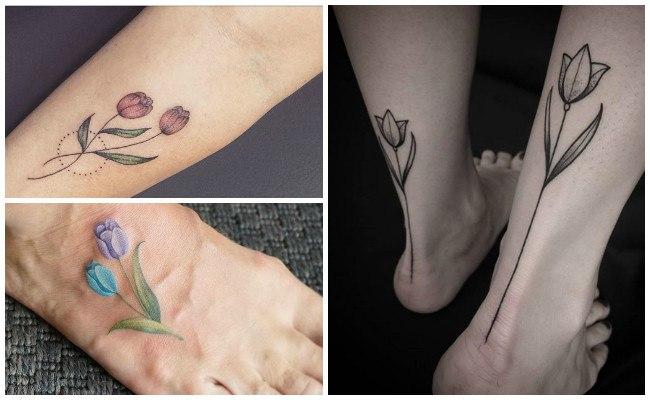 Diseños de tatuajes de tulipanes