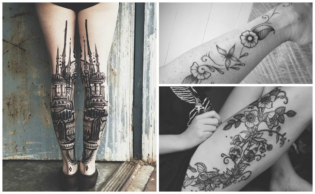 Diseños de tatuajes en la pierna