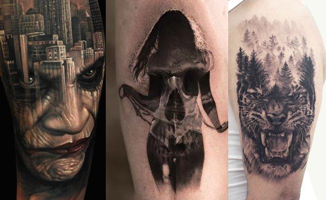 estilo de tatuaje de doble exposicion