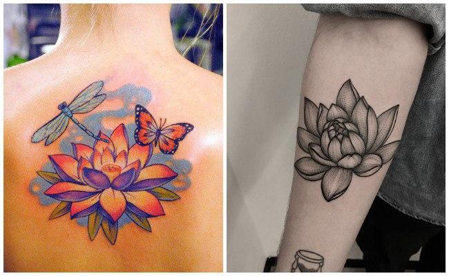 La flor de loto en tatuaje