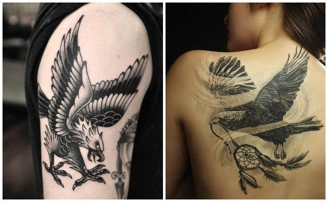 Fotos de tatuajes de águilas en el brazo