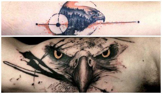 Fotos de tatuajes de águilas en la espalda