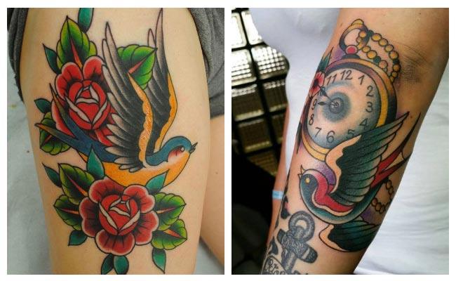 Fotos de tatuajes de golondrinas