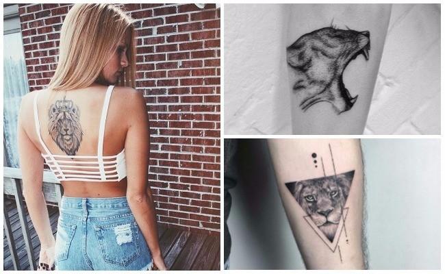 Fotos de tatuajes de leones rugiendo