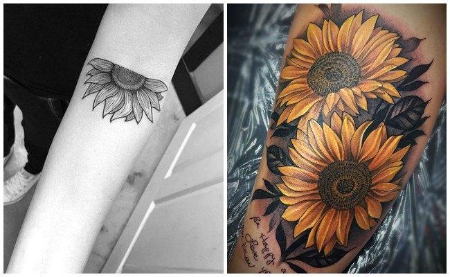Fotos de tatuajes de girasoles