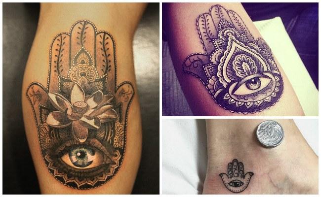 Fotos de tatuajes de la mano de fátima