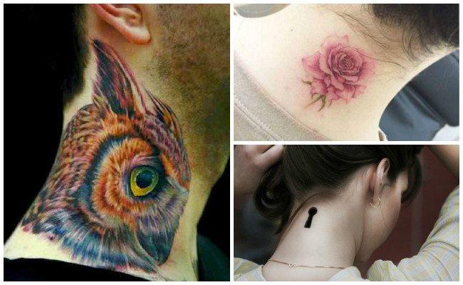 Fotos de tatuajes en el cuello