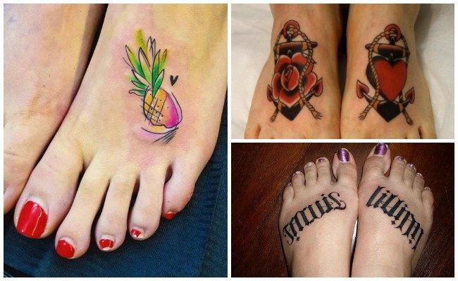 Fotos de tatuajes en el pie