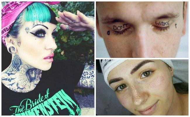 Fotos de tatuajes en la cara