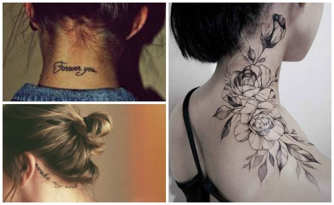 Fotos de tatuajes en la nuca