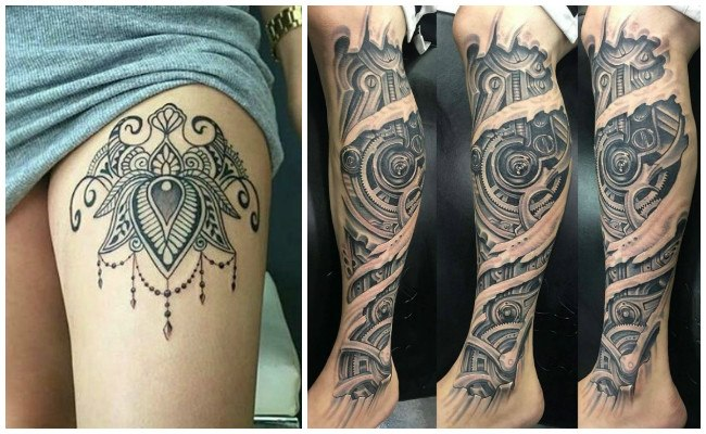 Fotos de tatuajes en la pierna