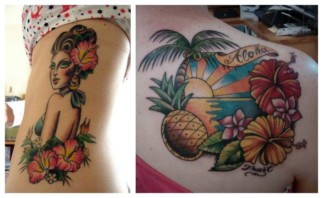 Fotos de tatuajes hawaianos para mujeres