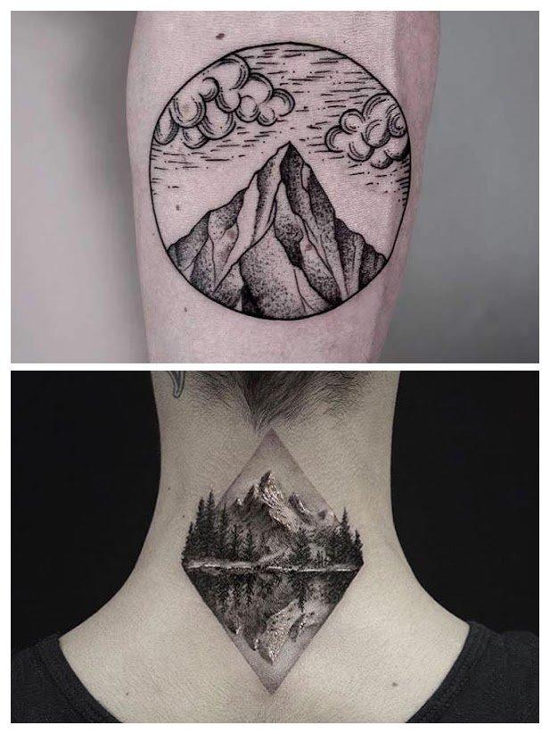 Fotos de tatuajes de montañas