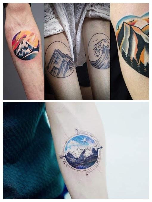 Ideas de diseños de tatuajes de montaña