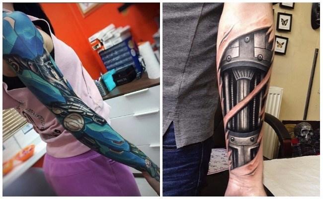 Ideas para tatuajes robot
