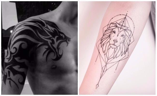 Imágenes de tatuajes de leones en la espalda