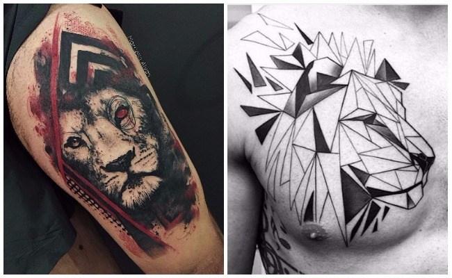 Imágenes de tatuajes de leones tribales