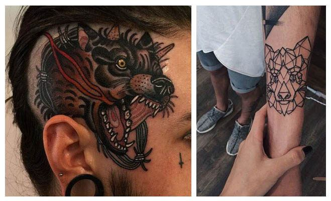 Imágenes de tatuajes de lobos