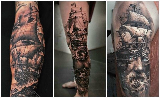 Imágenes de tatuajes de barcos