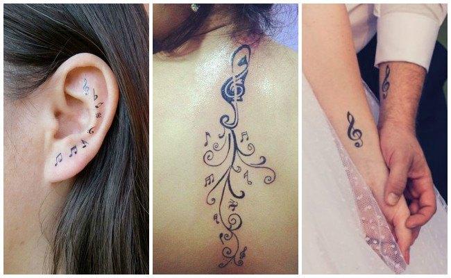 Imágenes de tatuajes de clave de sol