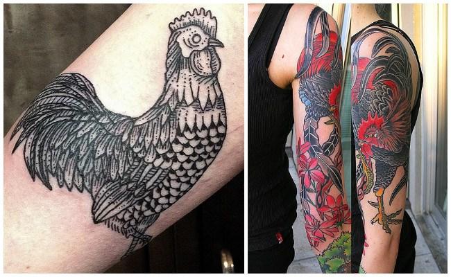 Imágenes de tatuajes de gallos