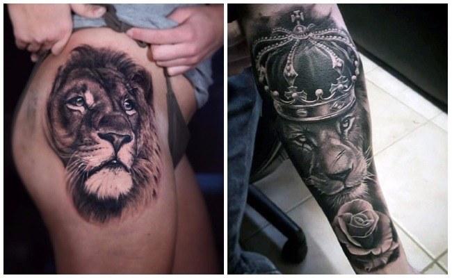 Imágenes de tatuajes de leones