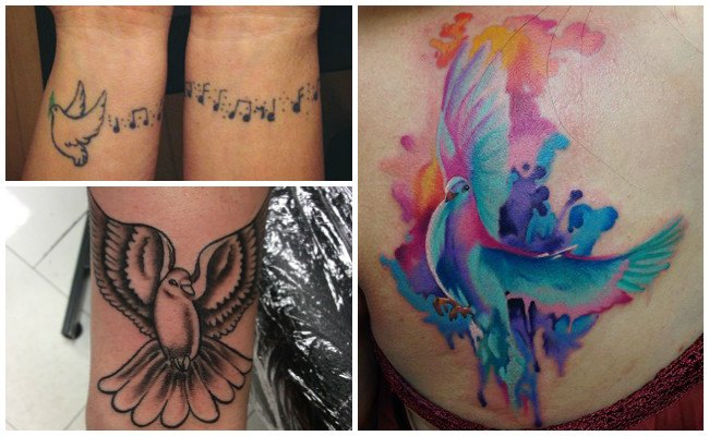 Imágenes tatuajes de palomas