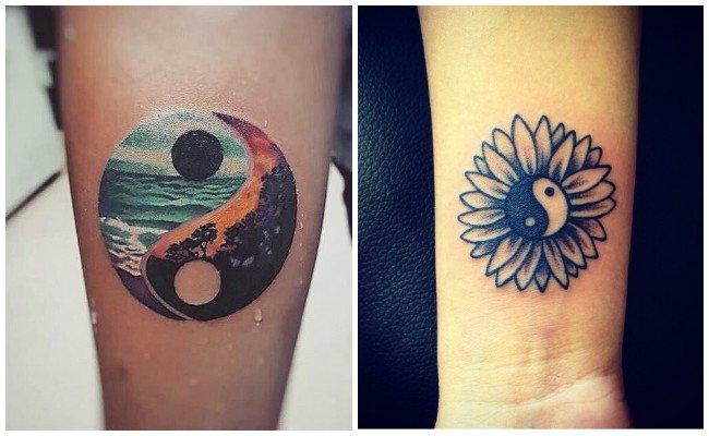 Imágenes de tatuajes de yin yang