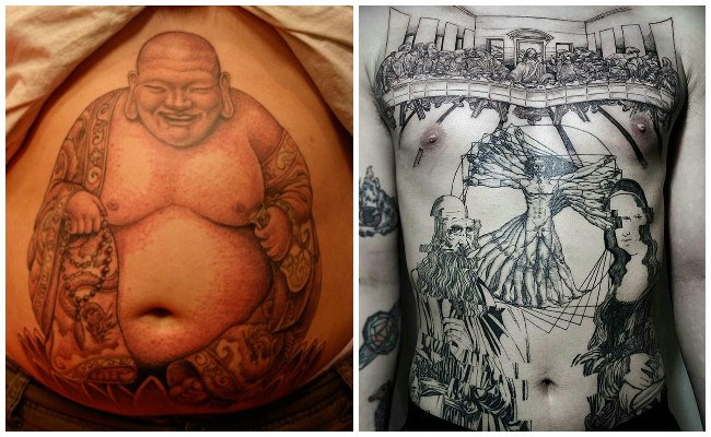 Imágenes de tatuajes en el abdomen