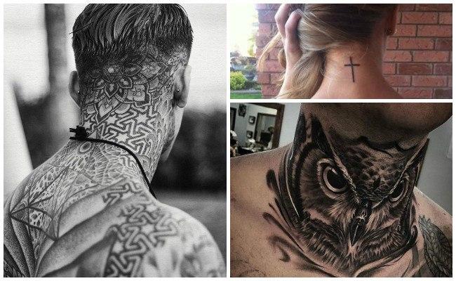 Imágenes de tatuajes en el cuello