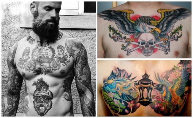 Imágenes de tatuajes en el pecho