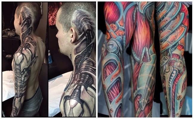 Los mejores tatuajes biomecánicos del mundo