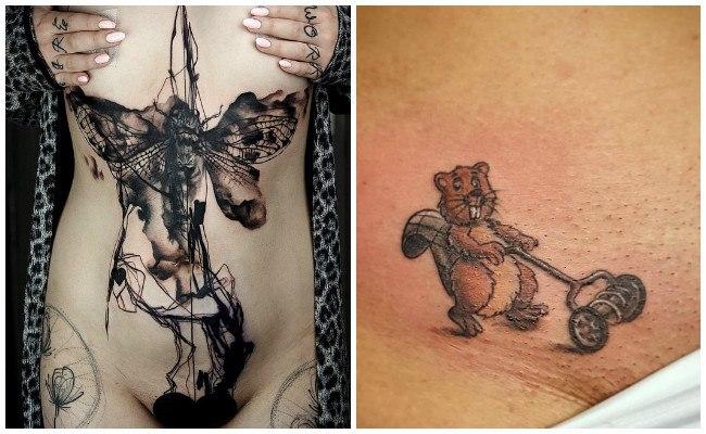 Los tatuajes en partes íntimas
