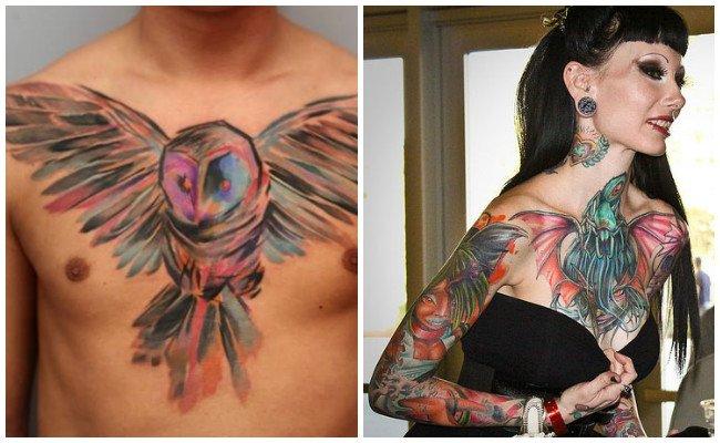 Nombres de tatuajes en el pecho