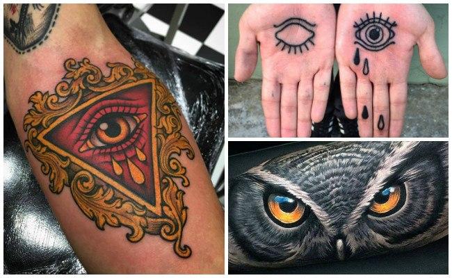 Ojos de búhos en tatuajes