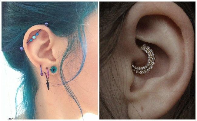 Piercing en la oreja y cartílago