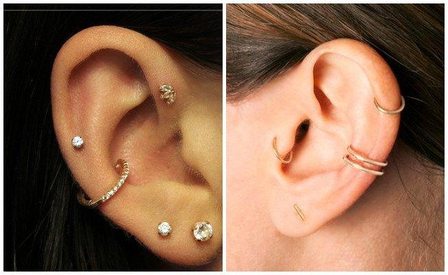 Piercing en la oreja corazón