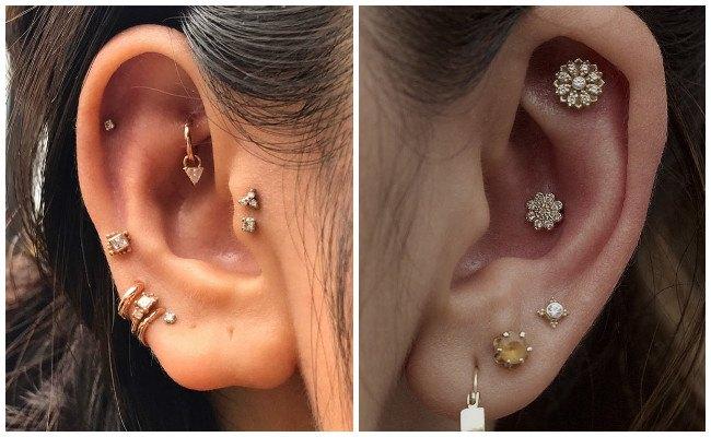 Piercing en la oreja para mujer