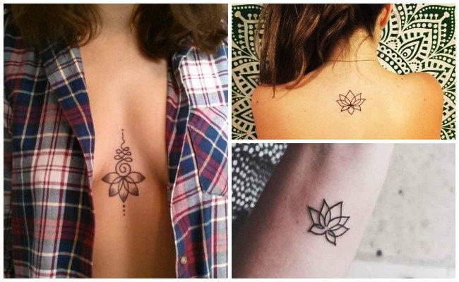 Plantillas de flor de loto para tatuaje