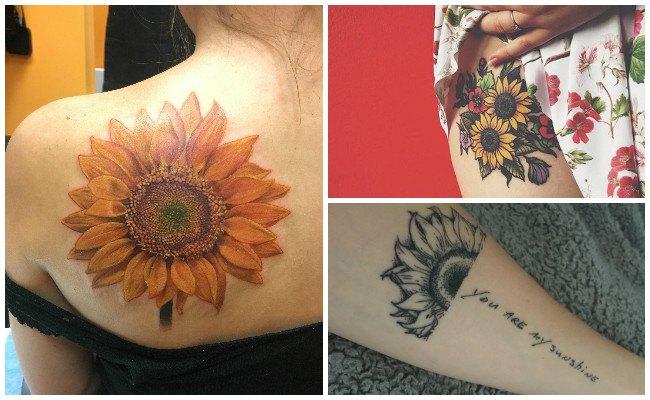 Significado de los girasoles en los tatuajes
