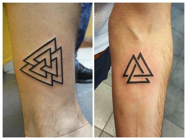 significado tatuaje tres triangulos entrelazados
