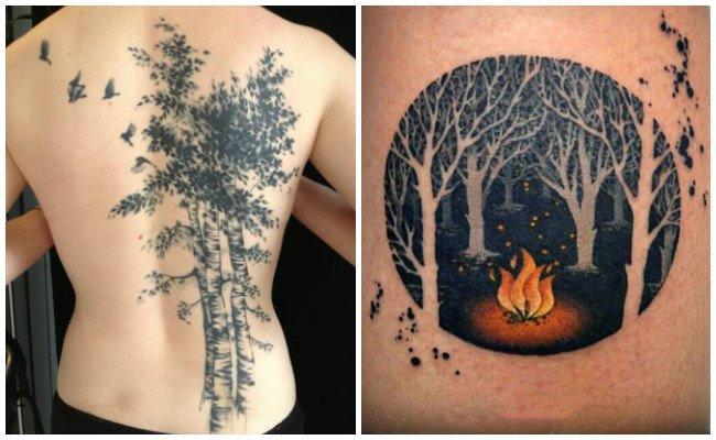 Significado de tatuajes de bosques