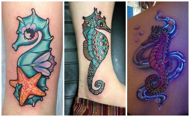 Significado de tatuajes de caballitos de mar